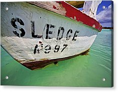 A Fishing Boat Named Sledge Acrylic Print