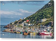 A Fishing Harbour In Newfoundland Canada Acrylic Print