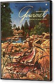 A Fishing Scene Acrylic Print