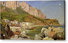 A Fishing Village At Capri Acrylic Print by Louis Gurlitt