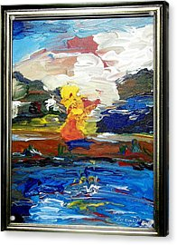 Acrylic Print featuring the painting A Fluid Landscape by Ray Khalife