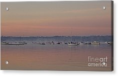 Acrylic Print featuring the photograph A Foggy Fishing Day by John Telfer