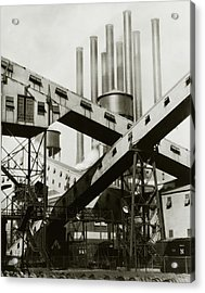 A Ford Automobile Factory Acrylic Print by Charles Sheeler