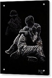 Acrylic Print featuring the painting My Friend Killed In Korean War by Bob Johnston