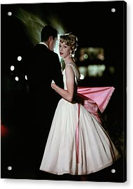 A Formally Dressed Couple Acrylic Print by Sante Forlano