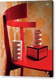 A Fratelli Tominaga Chair And Hakusan Fancy Cups Acrylic Print by Danny Evans
