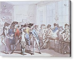 A French Coffee House Acrylic Print by Thomas Rowlandson