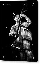 Acrylic Print featuring the photograph A French Contrabass Player by Stwayne Keubrick