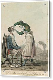 A (french) Lady Barber Wet Shaves Acrylic Print