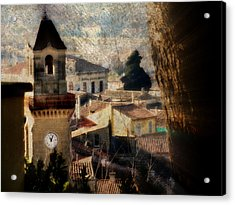 A French Village Acrylic Print by Tina Concetta Marzocca