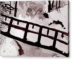 A Frozen River Acrylic Print by Shelley Bain