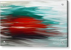 A Frozen Sunset Abstract Acrylic Print by Andee Design