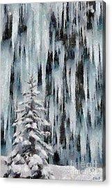 A Frozen Waterfall Acrylic Print