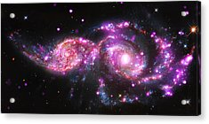 A Galactic Get-together Acrylic Print by Nasa