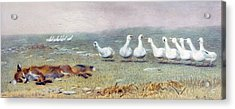 A Game Of Fox And Geese, 1868 Acrylic Print by Briton Riviere