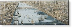 A General View Of The City Of London And The River Thames Acrylic Print