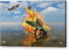 A German Ju-87 Stuka Dive Bomber Shot Acrylic Print by Mark Stevenson