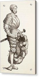 A German Knight, From Military And Religious Life In The Middle Ages By Paul Lacroix Acrylic Print