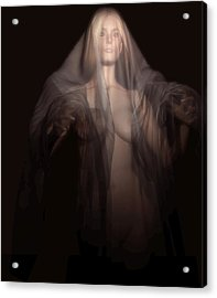 Acrylic Print featuring the digital art A Ghost In The Dark by Kaylee Mason