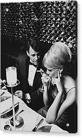 A Glamorous 1960s Couple Dining Acrylic Print