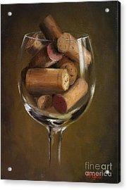 A Glass Of Cork Acrylic Print