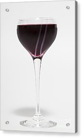 A Glass Of Red Wine Acrylic Print by Diane Macdonald