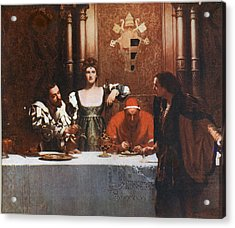 A Glass Of Wine With Caesar Borgia Acrylic Print by Philip Ralley