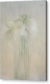 Acrylic Print featuring the photograph A Glimpse Of Roses by Annie Snel