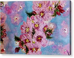 Acrylic Print featuring the painting A Glimpse Of Spring... by Cristina Mihailescu
