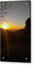 A Glorious Sunrise Over Nebo Acrylic Print by Edwin Vincent