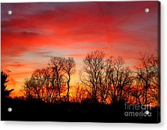 A Glowing January Sunrise Acrylic Print by Jay Nodianos
