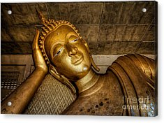 A Golden Buddha  Acrylic Print by Adrian Evans