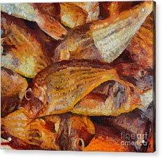 A Good Catch Of Fish Acrylic Print by Dragica  Micki Fortuna