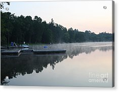 A Good Day For Canoeing Acrylic Print by Steve Knapp