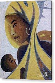 A Good Mother Acrylic Print by Fania Simon