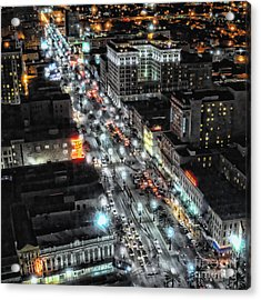 A Gothic Night In New Orleans On Canal Street Acrylic Print