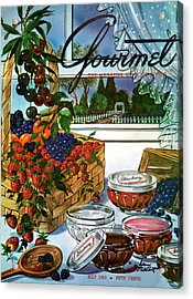 A Gourmet Cover Of A Fruit Basket Acrylic Print