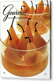 A Gourmet Cover Of Baked Pears Acrylic Print
