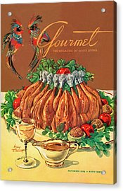A Gourmet Cover Of Chicken Acrylic Print by Henry Stahlhut
