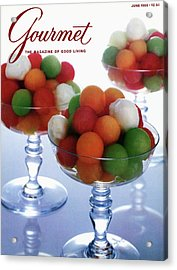 A Gourmet Cover Of Melon Balls Acrylic Print by Romulo Yanes