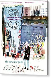 A Gq Cover Of The Plaza Hotel Acrylic Print