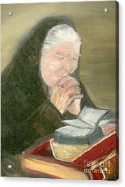 A Grandmother's Prayer Acrylic Print by Helena Bebirian
