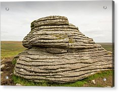 A Granite Tor Acrylic Print by Ashley Cooper