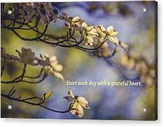 A Grateful Heart Acrylic Print