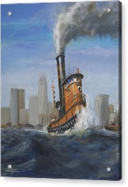A Great Day For Tugs Acrylic Print by Christopher Jenkins