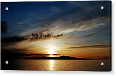 A Great Salt Lake Sunset Acrylic Print
