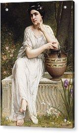 A Grecian Beauty Acrylic Print by Charles Amable Lenoir
