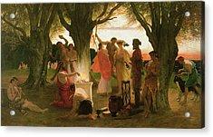 A Greek Festival Oil On Canvas Acrylic Print