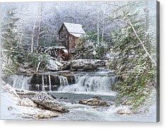 A Gristmill Christmas Acrylic Print
