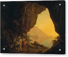 A Grotto In The Kingdom Of Naples, With Banditti, Exh. 1778 Acrylic Print by Joseph Wright of Derby